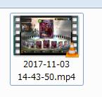 OBS Studioによって録画されたファイル例