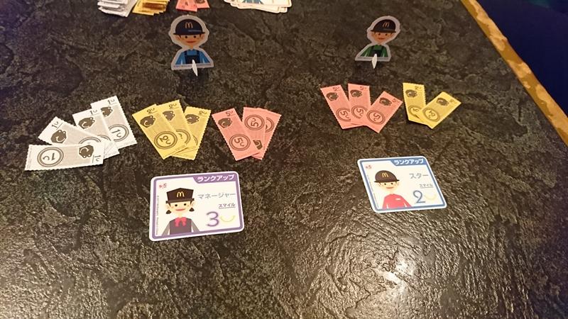最終結果時の様子 - マクドナルドクルー 人生ゲーム