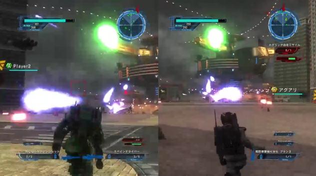 [ミッション22. 前哨基地 偵察戦]敵の前哨基地から攻撃されているところ【地球防衛軍5】