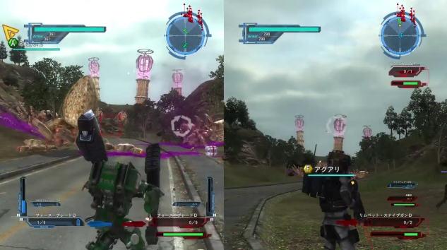 [ミッション23. 楔の山]テレポーション・アンカーを攻撃しているところ【地球防衛軍5】
