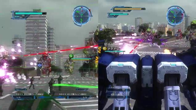 [ミッション24. 降下艇飛来]赤いコロニストが攻撃するところ【地球防衛軍5】