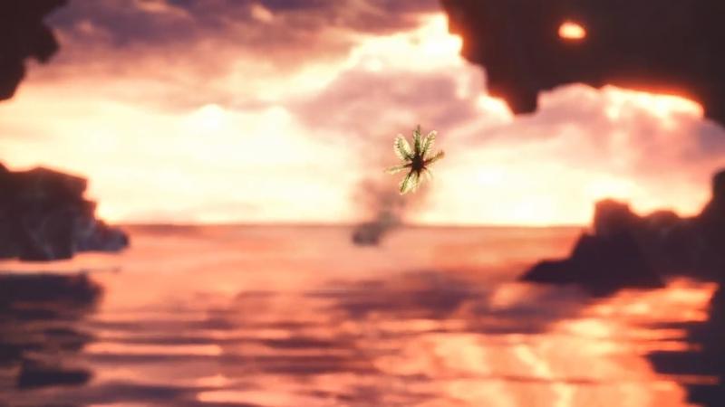 海へと向かうゾラ・マグダラオスへ受付嬢が送り出した花びら【モンスターハンター:ワールド】