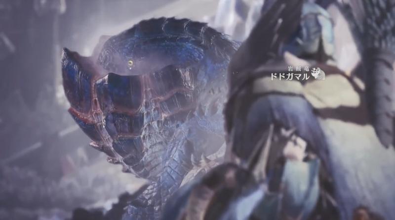 ドドガマルと初めて遭遇するシーン【モンスターハンター:ワールド】