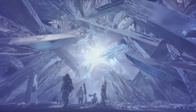 地脈の収束地にて発見した巨大なエネルギーの結晶【モンスターハンター:ワールド】