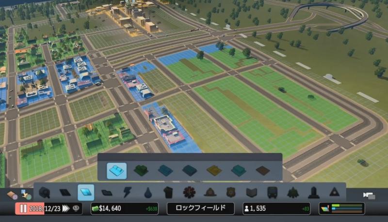 大通り沿いに商業区、内側に居住区を設定【シティーズ:スカイライン PlayStation4 Edition】