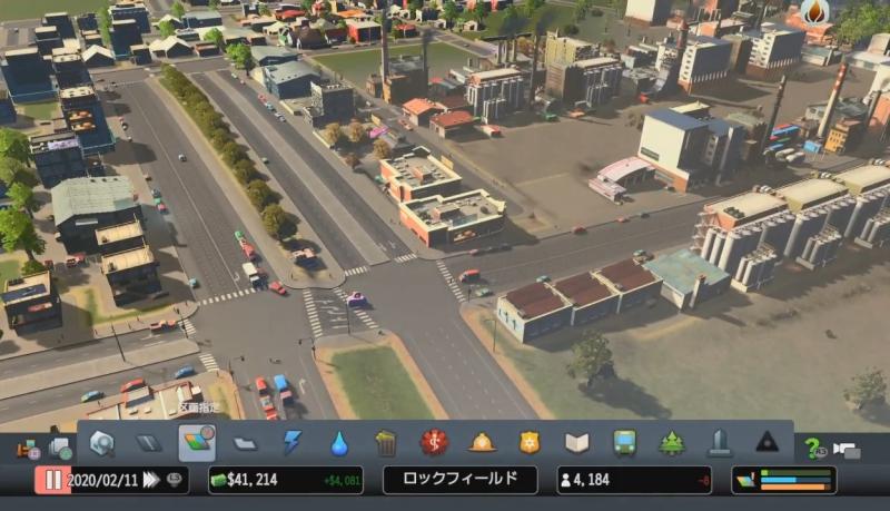 道路を広くし、交差点を少なくして渋滞に対処【シティーズ:スカイライン PlayStation4 Edition】