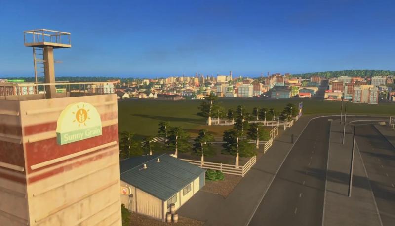 農業地区から見た街の風景【シティーズ:スカイライン PlayStation4 Edition】