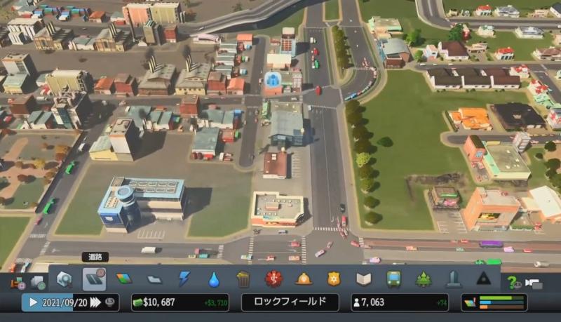 高速道路の出入り口を一本化した【シティーズ:スカイライン PlayStation4 Edition】