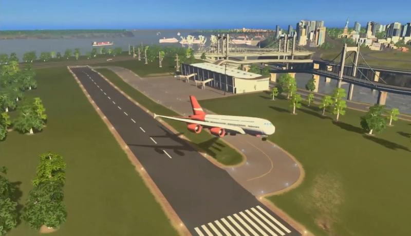 初めて来た飛行機が離陸するところ【シティーズ:スカイライン PlayStation4 Edition】