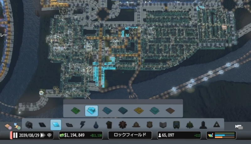 最初のエリアの居住区を俯瞰で見た様子【シティーズ:スカイライン PlayStation4 Edition】