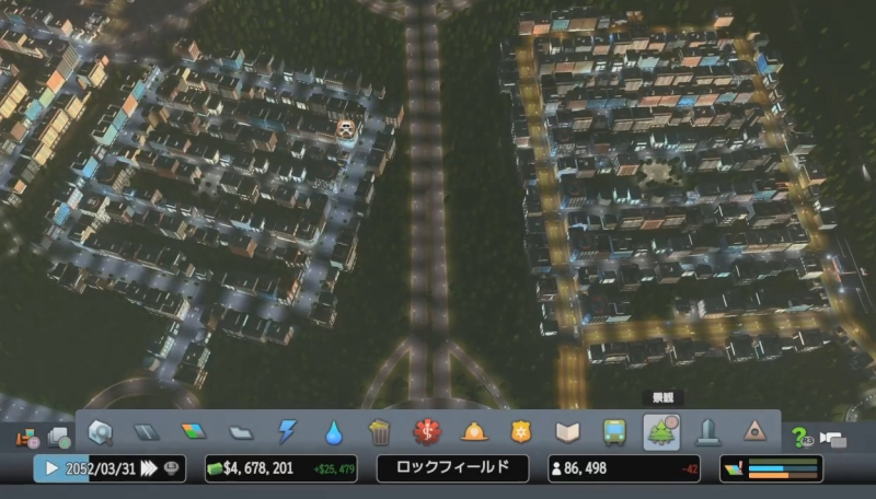 人口が86000人を超えた時のキャプチャ【シティーズ:スカイライン PlayStation4 Edition】