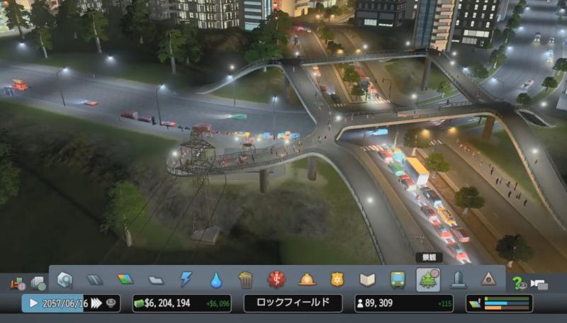 「井」の字の歩道橋を作成【シティーズ:スカイライン PlayStation4 Edition】