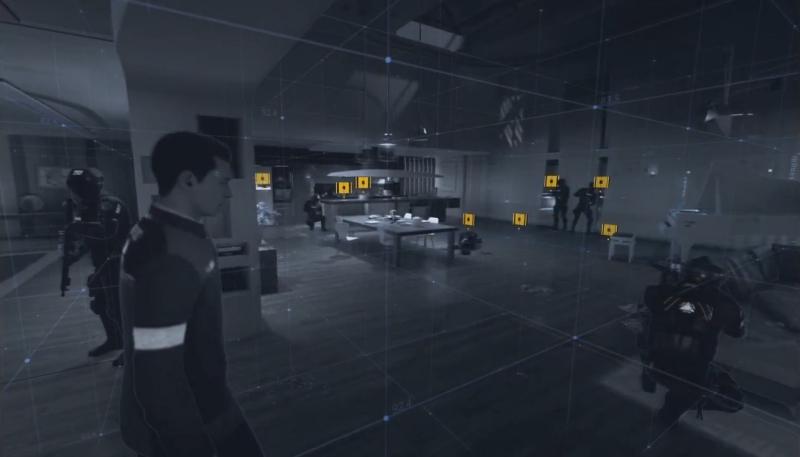 R2ボタンで周りをスキャン【Detroit: Become Human】