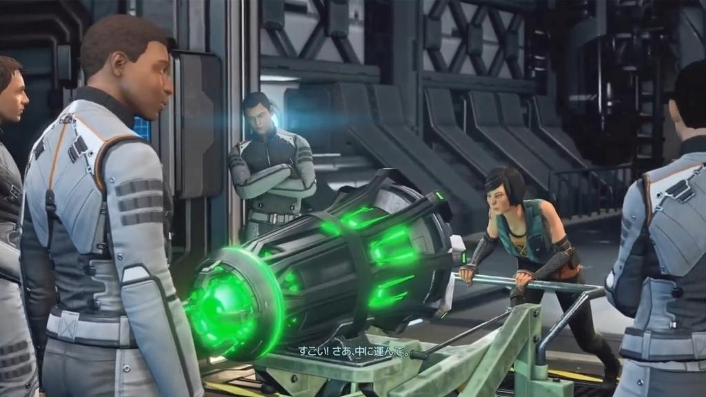 回収した変換器を運ぼうとするシェン博士【XCOM2】