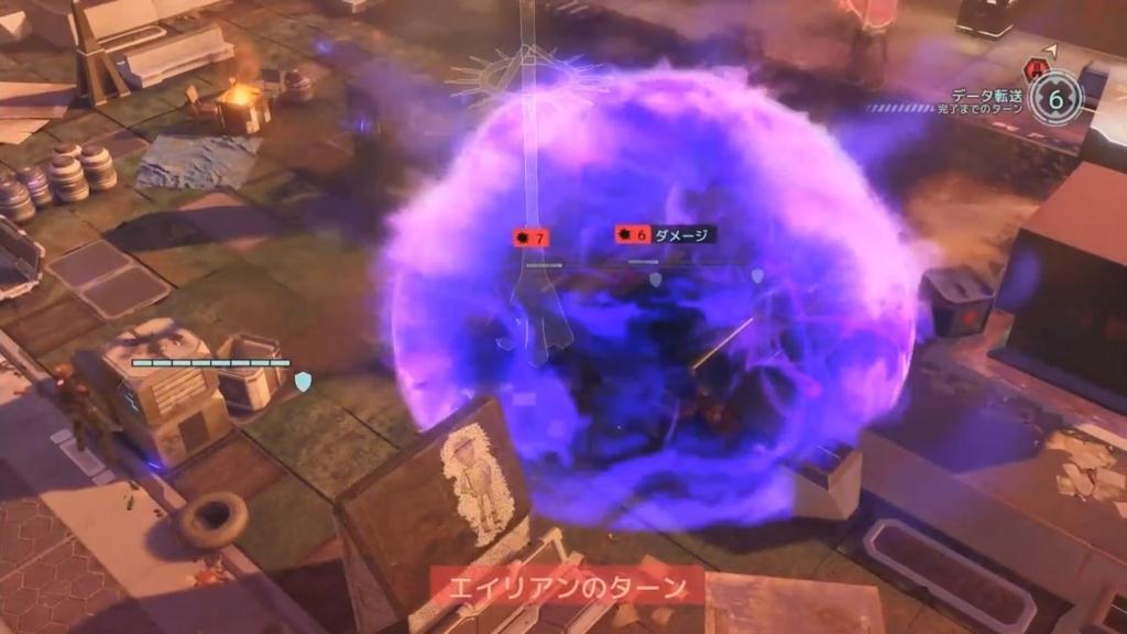 コーデックスのサイキック攻撃でダメージを受けるシーン【XCOM2】
