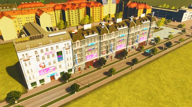 クリフサイドベイの高密度の商業区【シティーズ:スカイライン PlayStation4 Edition】