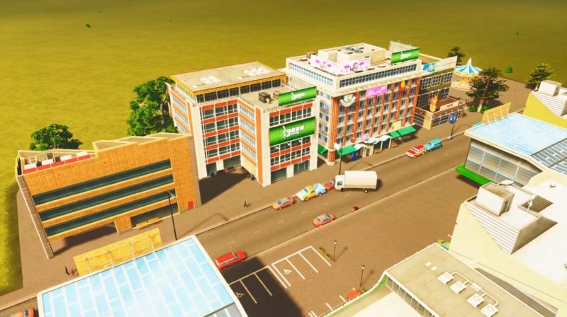 クリフサイドベイの低密度の商業区【シティーズ:スカイライン PlayStation4 Edition】