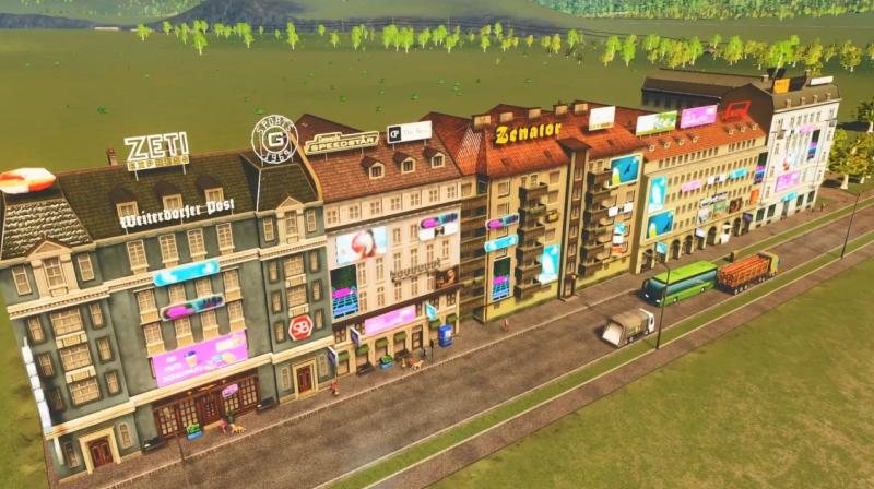 フォギーヒルズの高密度の商業区【シティーズ:スカイライン PlayStation4 Edition】