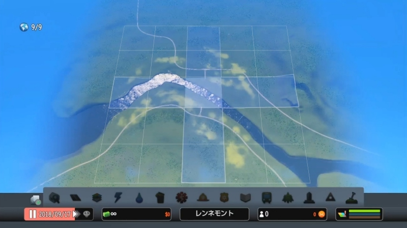 グランドリバーの全景、購入可能エリア【シティーズ:スカイライン PlayStation4 Edition】