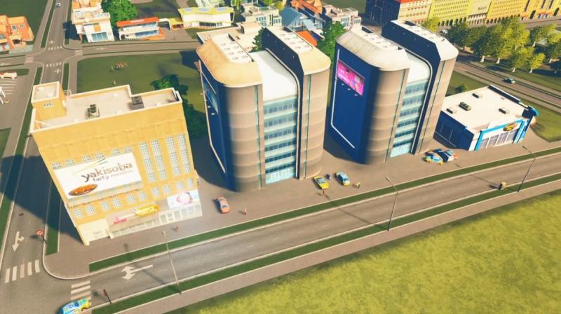グランドリバーの低密度の商業区【シティーズ:スカイライン PlayStation4 Edition】