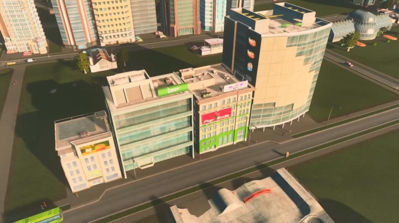 グリーンプレインの高密度の商業区【シティーズ:スカイライン PlayStation4 Edition】