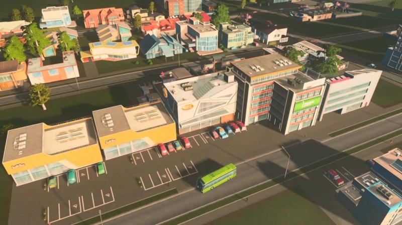 グリーンプレインの低密度の商業区【シティーズ:スカイライン PlayStation4 Edition】