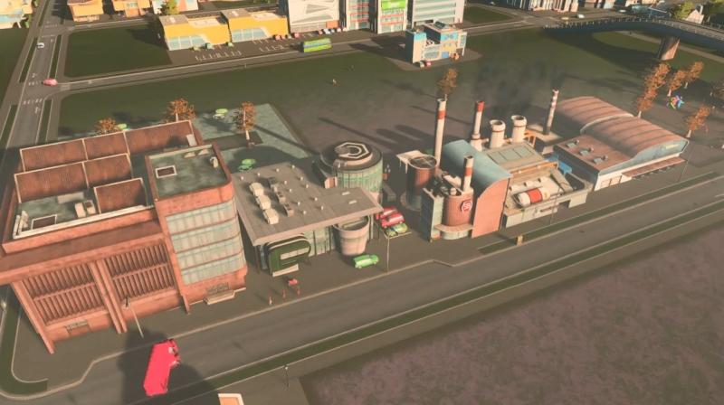 グリーンプレインの産業区【シティーズ:スカイライン PlayStation4 Edition】