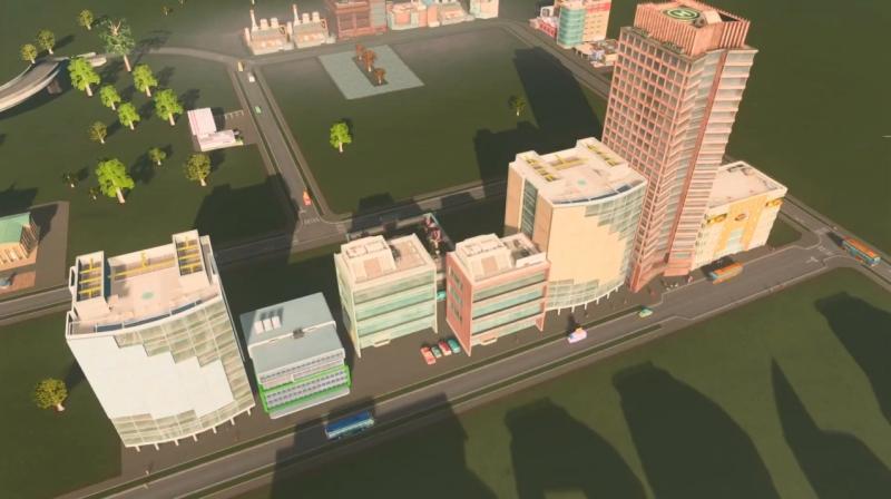 リバーランの高密度の商業区【シティーズ:スカイライン PlayStation4 Edition】