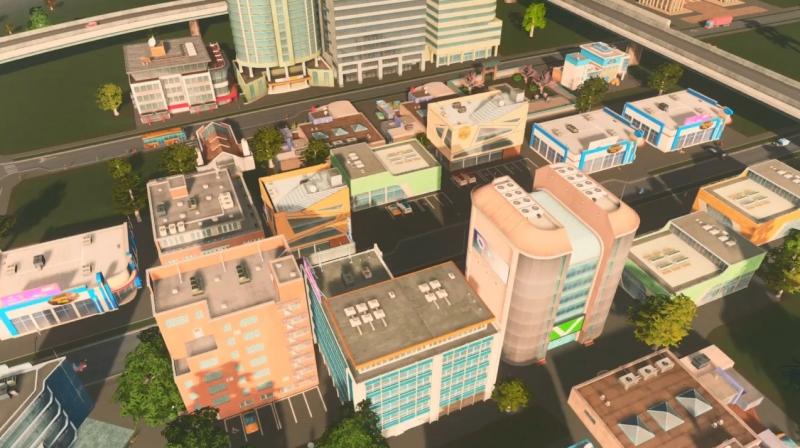 リバーランの低密度の商業区【シティーズ:スカイライン PlayStation4 Edition】
