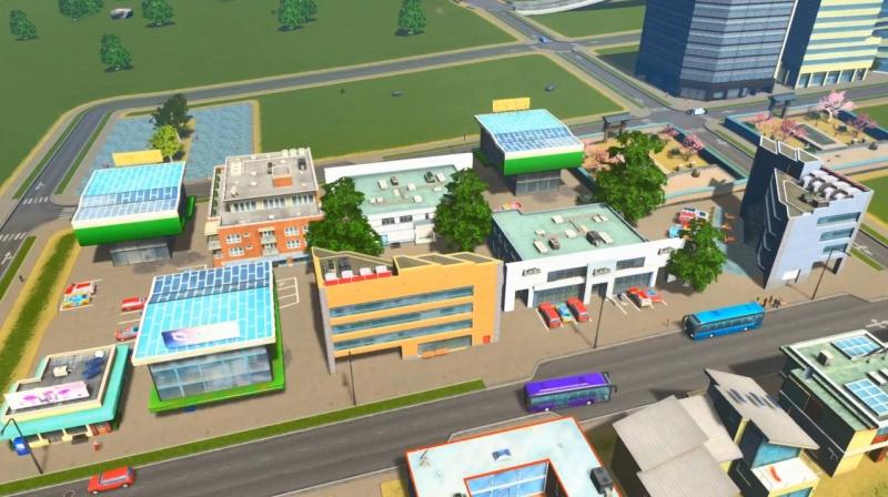 アイランドの低密度の商業区【シティーズ:スカイライン PlayStation4 Edition】