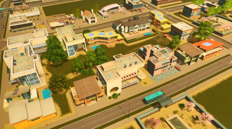 サンディービーチの低密度の居住区【シティーズ:スカイライン PlayStation4 Edition】