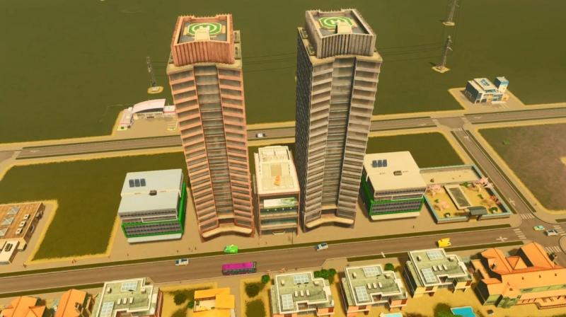 ラグーンショアの高密度の商業区【シティーズ:スカイライン PlayStation4 Edition】