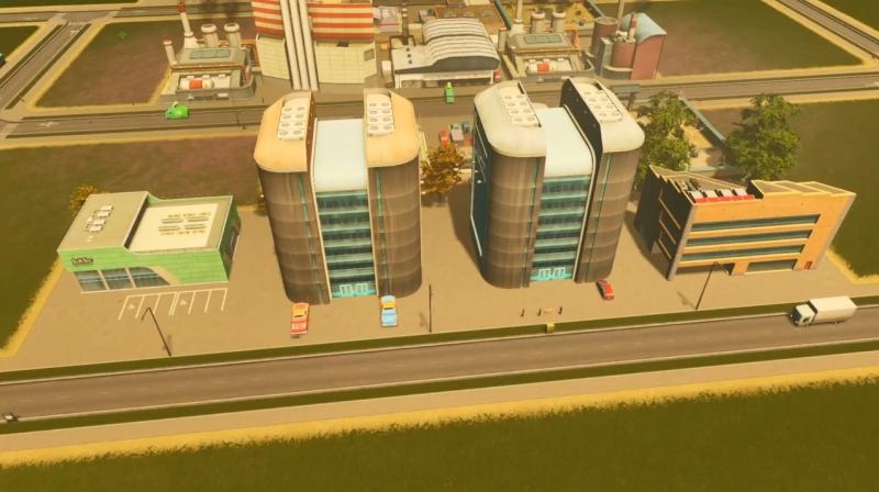 ラグーンショアの低密度の商業区【シティーズ:スカイライン PlayStation4 Edition】