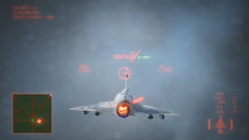 回避のコツその1:「雲の中」へ逃げ込む【エースコンバット7】