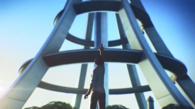 軌道エレベーターのその先へ手を伸ばすエルジアの王女ローザ・コゼット・ド・エルーゼ【エースコンバット7】