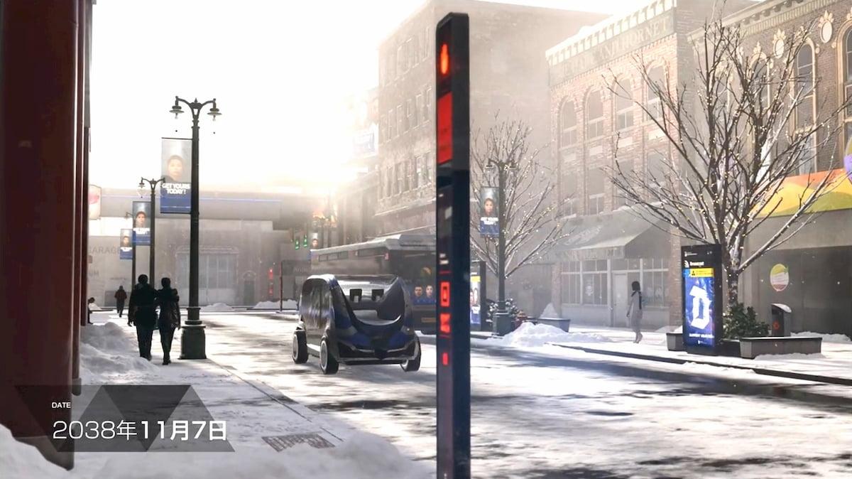 冬のデトロイトの街並み【Detroit: Become Human】