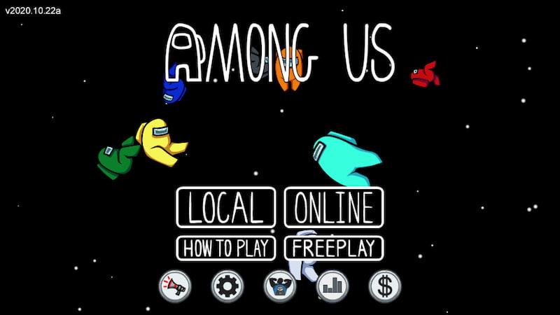 『Among Us』のタイトル画面