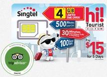 シンガポール旅行者用プリペイドカードSIM