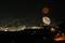 稲佐山付近から帆船イルミネーションと打ち上げ花火