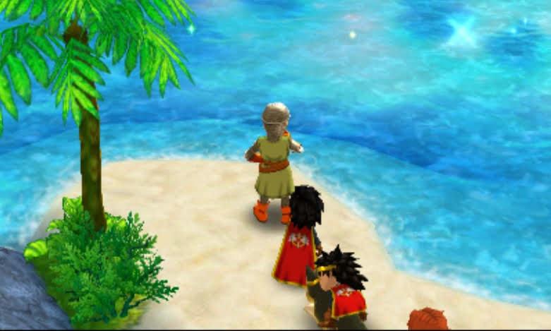 七色の入り江で写真を撮る