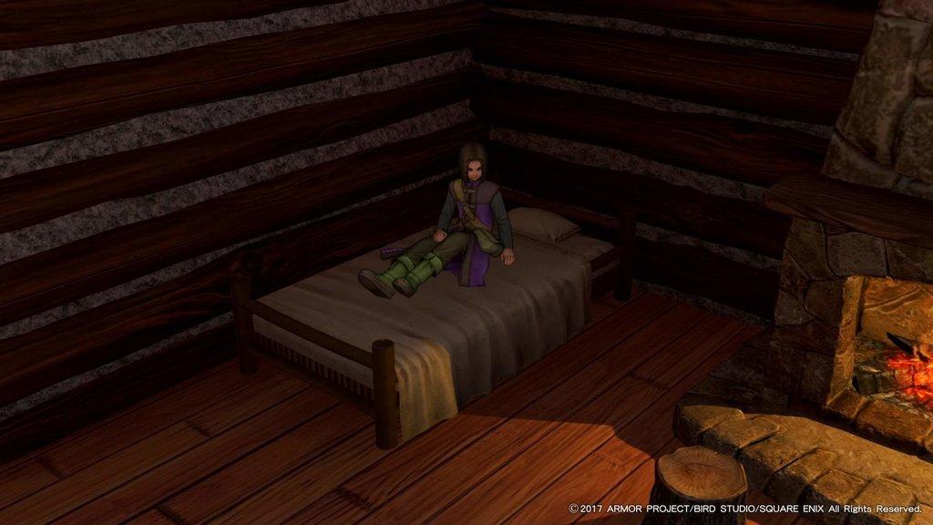 寝すぎちゃったなな主人公