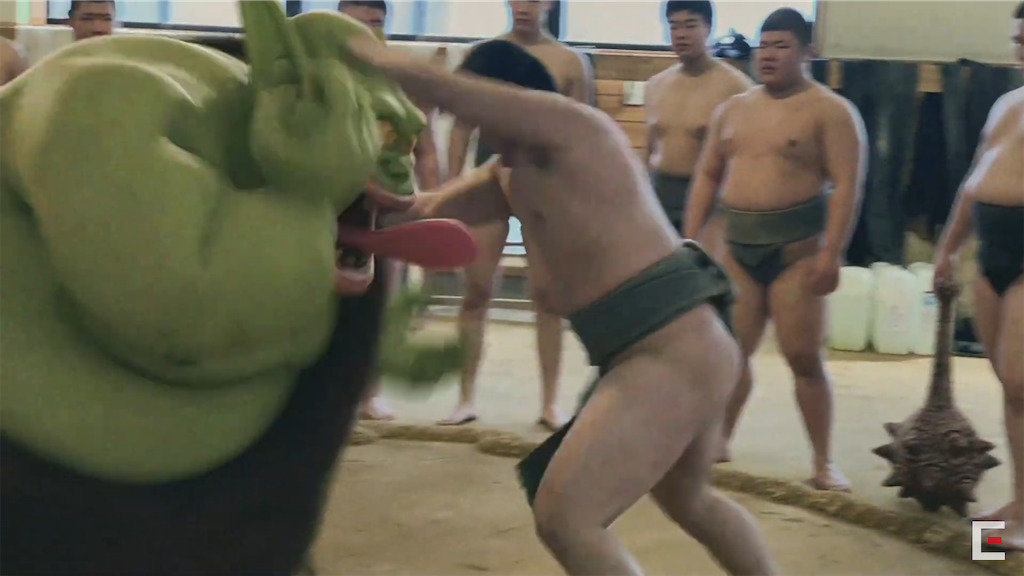 ボストロールと相撲