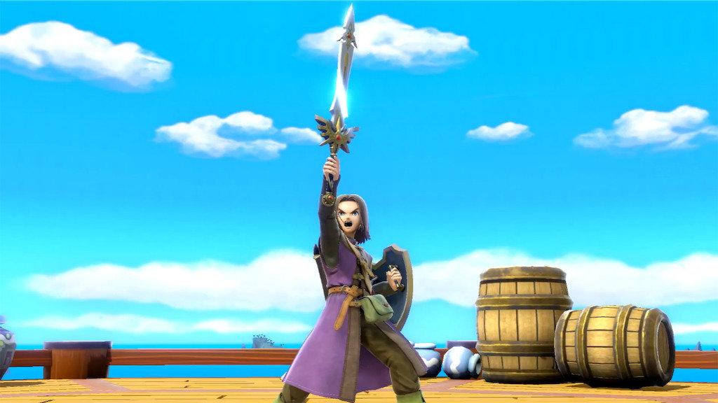 剣を掲げる11勇者