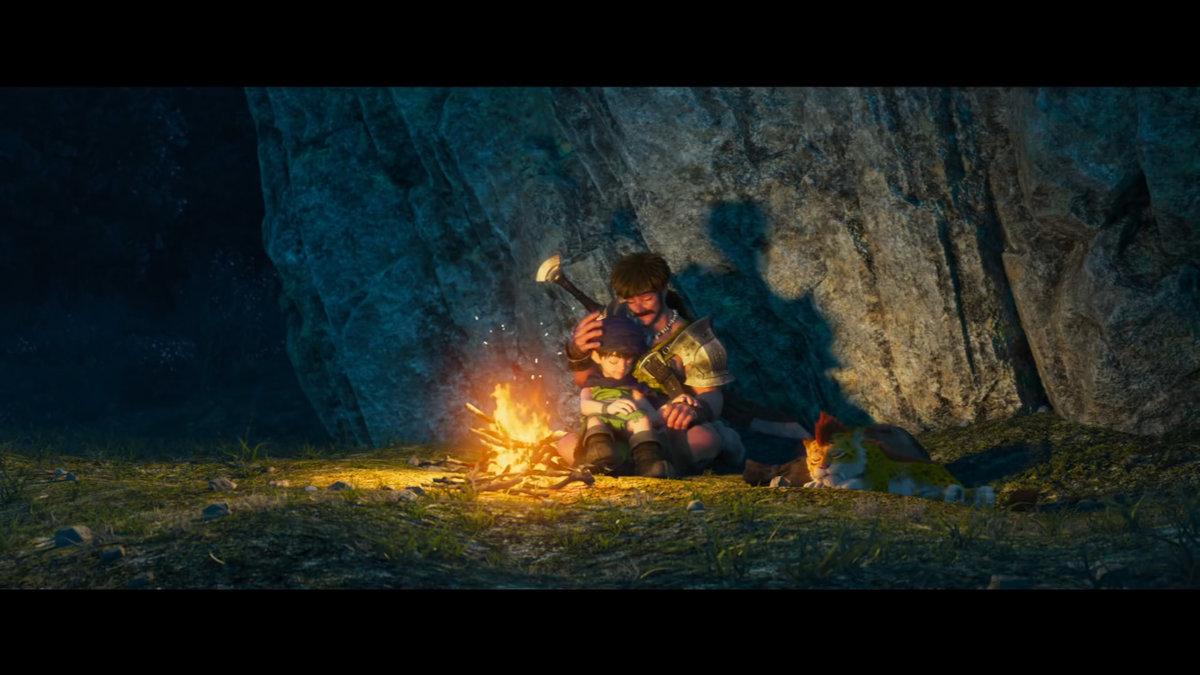 親と子とたき火