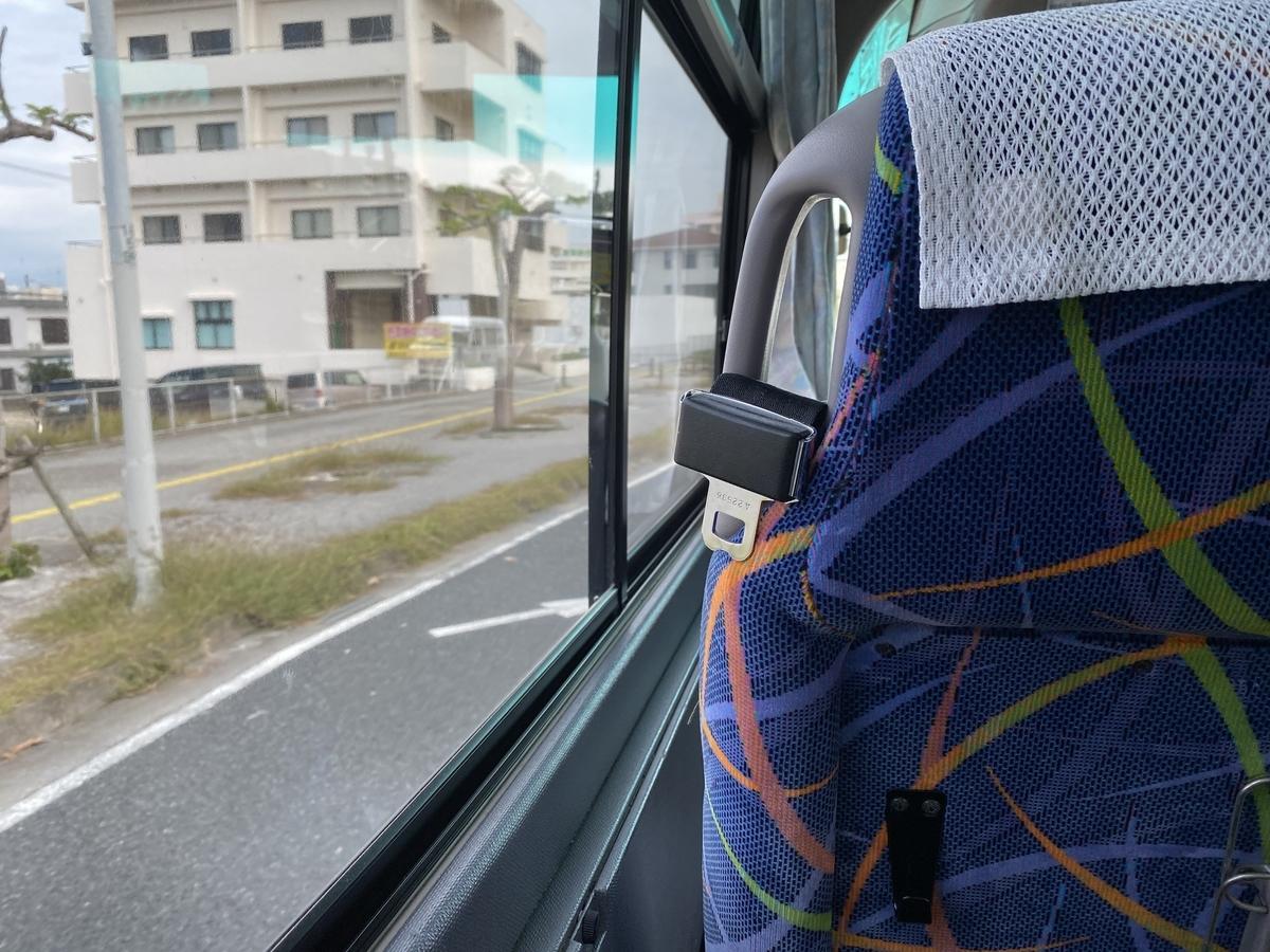 やんばる急行バス車内