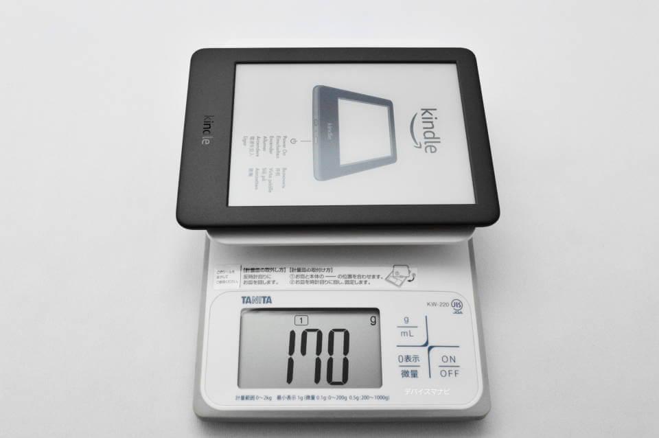 無印Kindle 重さ 比較