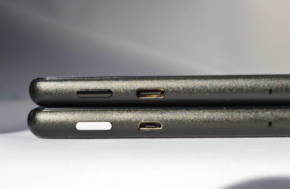 2019年 FireHD10 新型 旧型 USB 端子 Type-C