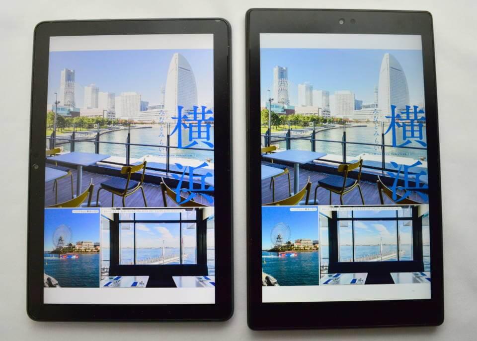 FireHD10Plus FireHD10 新型 旧型 画質 比較 雑誌