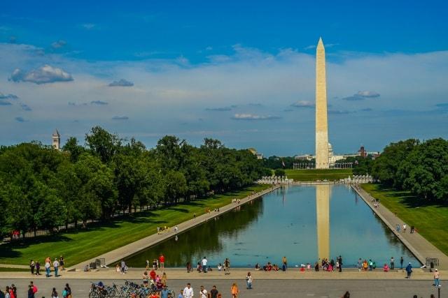 ワシントンDC ワシントン記念塔 リフレクティングプール