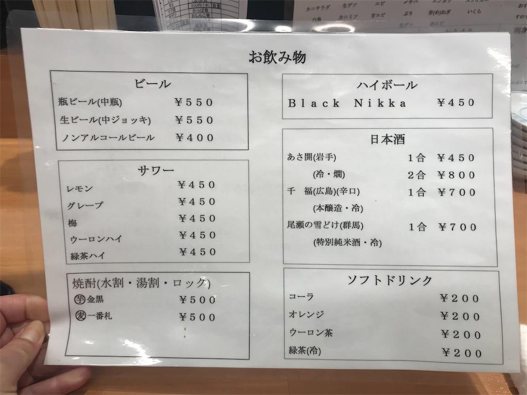 立ち食い寿司都々井(五反田)
